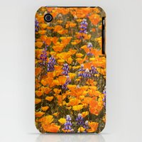 iPhone Cases featuring Figueroa Wild Flowers by Nancy barasch