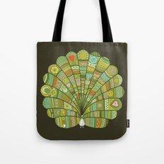 Peacock at Dawn Tote Bag