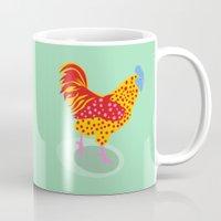 Green Chicken Mug