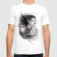 Black Swan II Mens Fitted Tee White SMALL