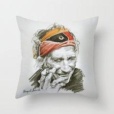 Keith portrait Throw Pillow