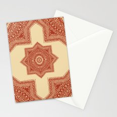 The Red Moroccan Pattern Stationery Cards