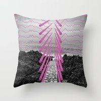 Surreal Beachscape Throw Pillow
