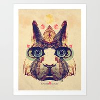 Rabbit Heart Art Print
