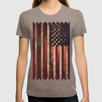 1776 Womens Fitted Tee Tri-Coffee SMALL