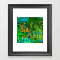 round green garden Framed Art Print