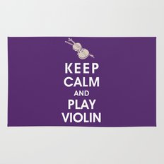 Keep Calm and Play Violin Rug