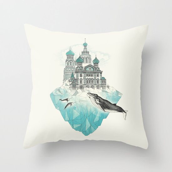 st peters-burg Throw Pillow