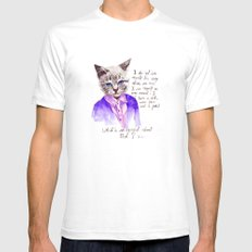 Fashion Mr. Cat Karl Lagerfeld and Chanel Mens Fitted Tee SMALL White