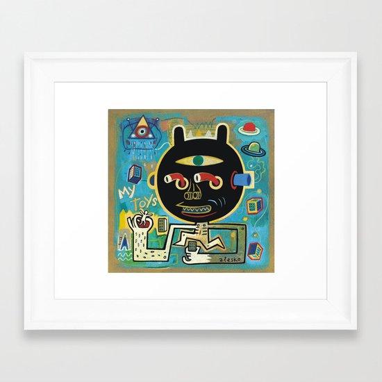 My toys Framed Art Print
