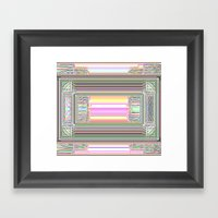 Moderne Glitch Framed Art Print