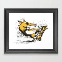 Evil Corgi #1 Framed Art Print