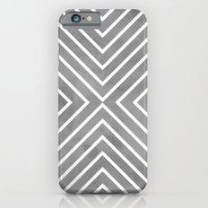 Stripes in Grey Slim Case iPhone 6s