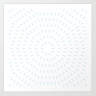 PCT2 Fractal In Ice Blue… Art Print
