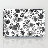 Floret Black And White iPad Case