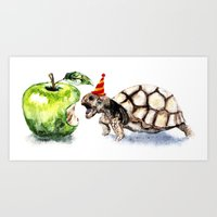 turtle Art Prints featuring Turtle by Anna Shell