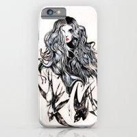 Woman & Birds  iPhone 6 Slim Case