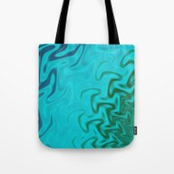 Ripples Fractal In Tropi… Tote Bag
