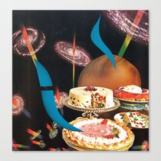 cosmic fruitcake - goofbutton collaboration #12 Canvas Print