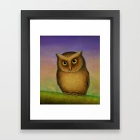 Mountain Scops Owl Framed Art Print