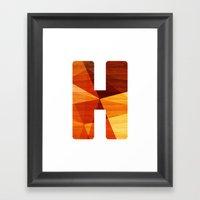 Letter H - Wooden Initia… Framed Art Print