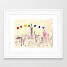 my pink NewYork Framed Art Print