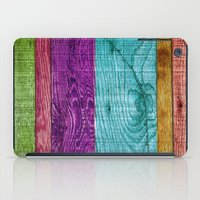 Colorful Wood  iPad Case