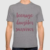 Teenage Daughter Survivo… Mens Fitted Tee Athletic Grey SMALL