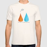 Water and Fire- A Tragic Love Affair Mens Fitted Tee Natural SMALL
