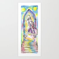Princess In Night Colorf… Art Print
