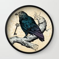 Raven's Key Wall Clock
