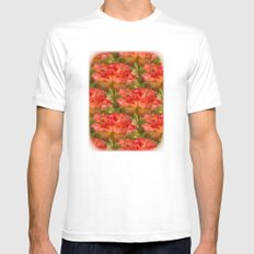 Roses Galore Mens Fitted Tee SMALL White