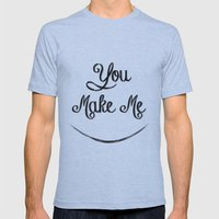 You Make Me Smile - Chal… Mens Fitted Tee Athletic Blue SMALL