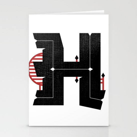 The Letter H Stationery Card