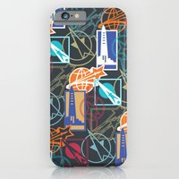 Space Badges Dark iPhone 6 Slim Case