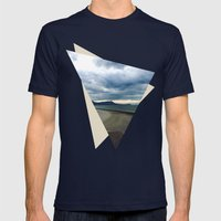 Road to Nowhere Mens Fitted Tee Navy SMALL
