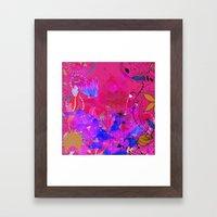 Boho Floral 2 Pattern Framed Art Print