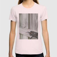 Welcome Womens Fitted Tee Light Pink SMALL