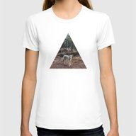 Injured Coyote Womens Fitted Tee White SMALL