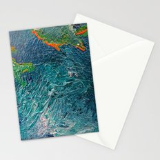 Ocean Depth abstract painting photograph Stationery Cards