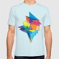 06 - 02 Mens Fitted Tee Light Blue SMALL