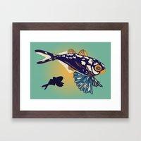 Ocean Fish Framed Art Print