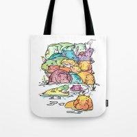 Hippo family Tote Bag