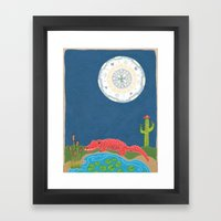 GatorMoon Framed Art Print