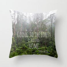 Going to the Forest Throw Pillow