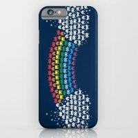 Rainbow Invaders iPhone 6 Slim Case