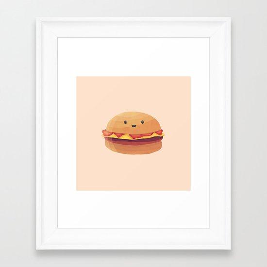 Burger Buddy Framed Art Print