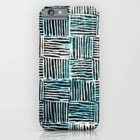 Black and Blue Pattern Print iPhone 6 Slim Case