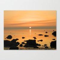 Sunset Ayrshire coast (Scotland) Canvas Print