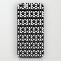 Black & White Triangles iPhone & iPod Skin